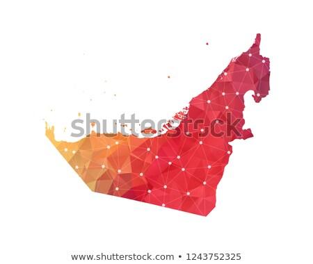 Emirados Árabes Unidos globo vermelho mapa simples ilustração 3d Foto stock © Harlekino