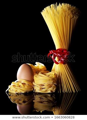 пасты курица Creative продовольствие фото сырой Сток-фото © Fisher