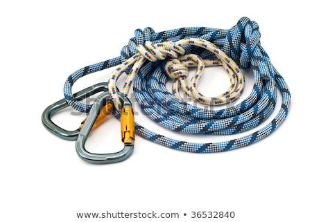 Hegymászás kék fehér kötelek égbolt szelektív fókusz Stock fotó © tashatuvango