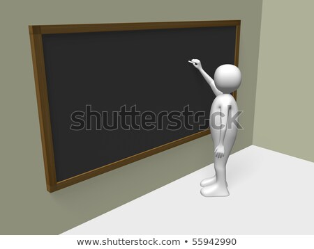 Black Chalkboard with Adult Only. 3D Rendering. Stock photo © tashatuvango