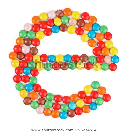 Letter e candies  chocolate Stock photo © Olena