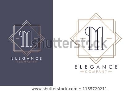 Prima letra m diseño de logotipo decorativo elemento boda Foto stock © SArts