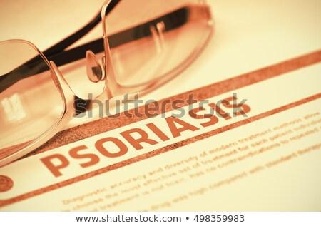 stress   printed diagnosis on red background stock photo © tashatuvango
