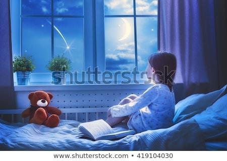 テディベア · ベッド · 写真 · 病気 · テディベア · 青 - ストックフォト © dmitriisimakov