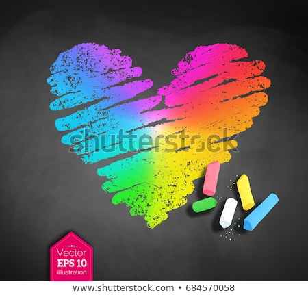 Vektor rajz szivárvány színes szív darabok Stock fotó © Sonya_illustrations
