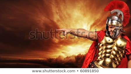 Roman Soldier Pointing Stock photo © Krisdog