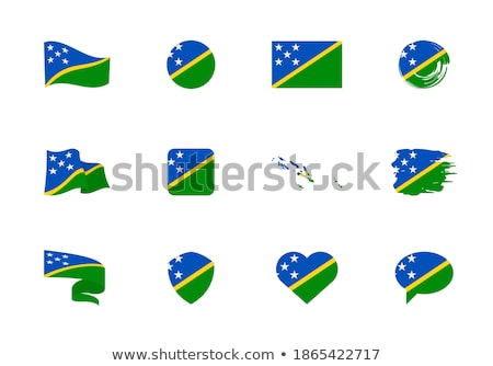 Heart with flag of solomon islands Stock photo © MikhailMishchenko