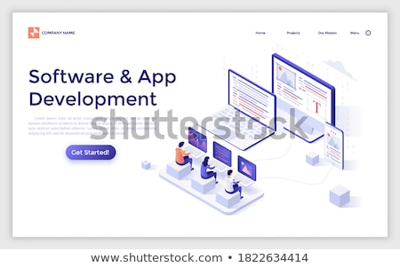 Laptop Screen with Promoting Website Concept. 3D. Stock photo © tashatuvango