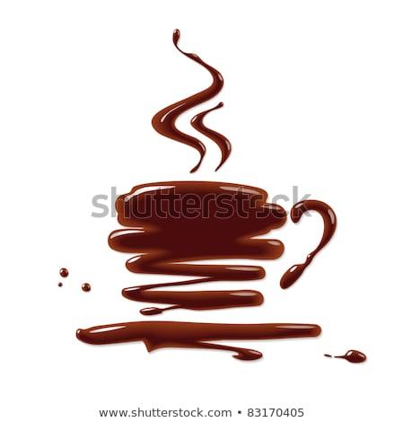 Dark hot chocolate spray and splash Stock photo © orensila