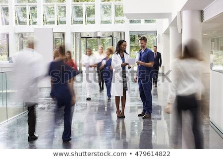 Zdjęcia stock: Lekarza · recepcji · szpitala · kobieta · człowiek