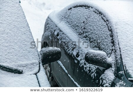 snowy car windshield and two wipers stock photo © blasbike