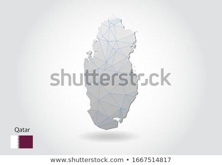 Катар земле красный регион 3d иллюстрации Сток-фото © Harlekino