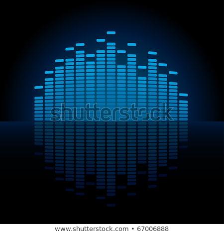Mavi grafik ekolayzer göstermek bo kafa Stok fotoğraf © almagami