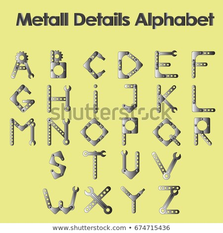 Full set of technical Robot Font letters alphabet Stock photo © adrian_n