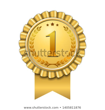 1st number one rank golden label design stock photo © SArts