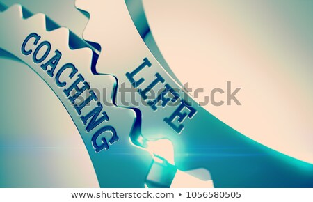 Business Consulting - Mechanism of Shiny Metal Cog Gears. 3D. Stock photo © tashatuvango