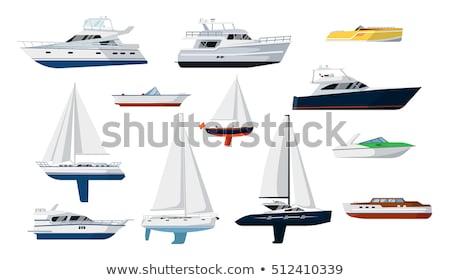 Luxe yacht isolé blanche icône vue de côté Photo stock © studioworkstock