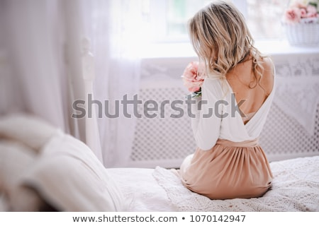 lovely woman in elegant dress stock photo © dolgachov