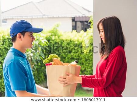 女性 紙袋 肖像 食料品 ストックフォト © wavebreak_media