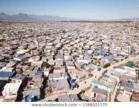 Aerial view of cape town shanty town Stock photo © IS2