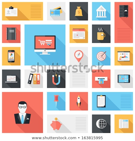 Stock photo: Laptop Notebook Vector Icon Flat Design