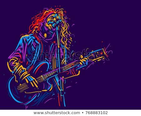 Streszczenie musical dźwięku grunge tle Język Zdjęcia stock © pathakdesigner