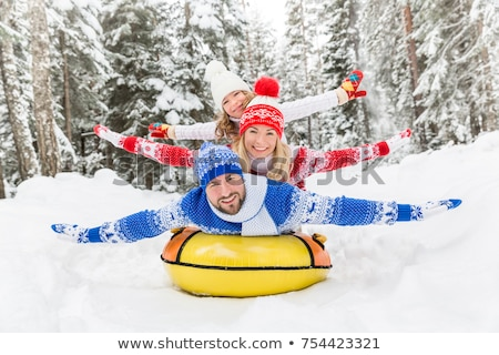 Kids Winter Snowtubing Stock photo © FOTOYOU