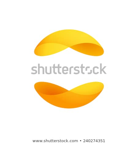 curved shapes connect color logo stock photo © krustovin