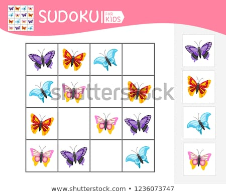 Sudoku game  insects   logic  Stock photo © Olena