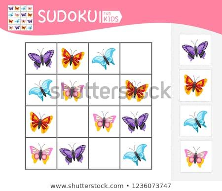 jeu · insectes · logique · enfants · photos · enfants - photo stock © Olena
