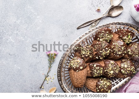 chocolate madeleines cookies stock photo © melnyk
