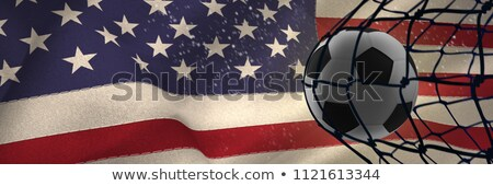 Football hitting the back of the net against united states of america flag Stock photo © wavebreak_media