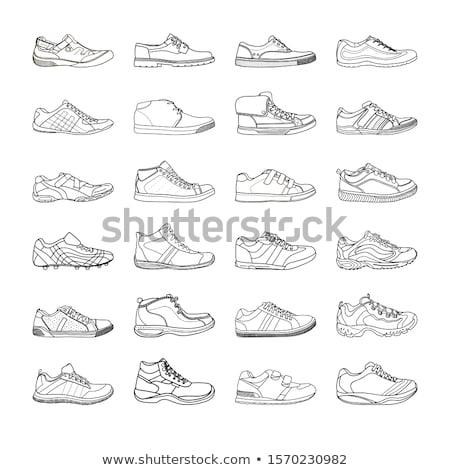 magas · sarok · cipő · szett · kép · nő · nők - stock fotó © dece