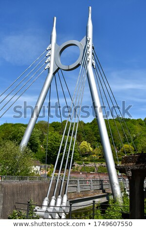Modern and spectacular bridge against the blue sky Stock photo © wdnetstudio