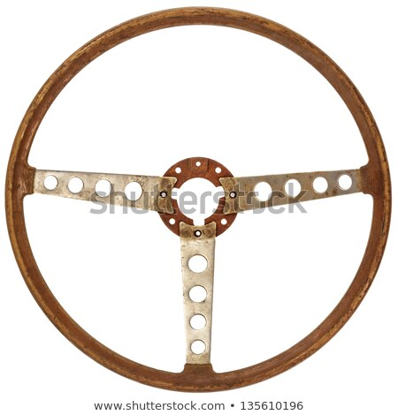 Vintage steering wheel of an old-timer Stock photo © manfredxy