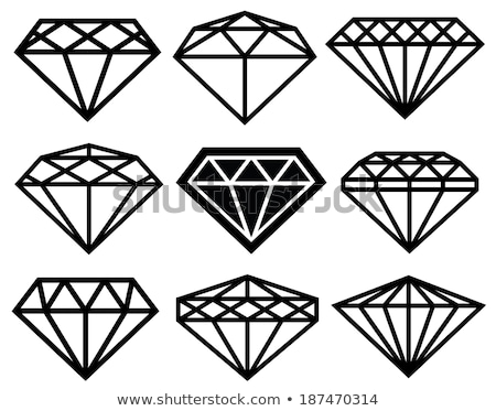 Jewels set, gems and diamonds outline design. Vector Stock photo © Andrei_