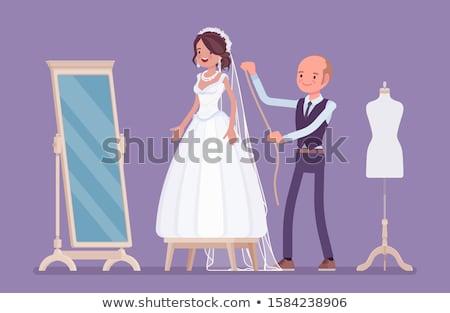 noiva · noivo · vetor · ilustrações · conjunto · casamento - foto stock © robuart