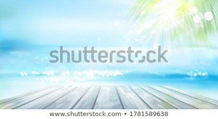 boat in wood pier cancun tropical caribbean sea stock photo © lunamarina