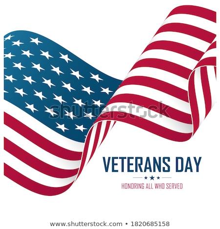 Dag USA star vlag kleuren Amerikaanse vlag Stockfoto © olehsvetiukha