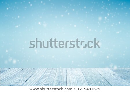 Falling snow over wooden deck  Stock photo © mblach