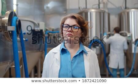White coat women_alcohol Stock photo © toyotoyo