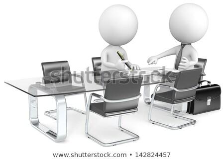 3D · wenig · Menschen · Diskussion · leer · Chat - stock foto © anatolym