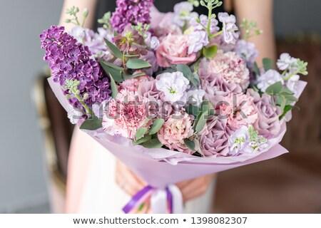 сирень цветы конверт копия пространства романтические сообщение Сток-фото © Lana_M