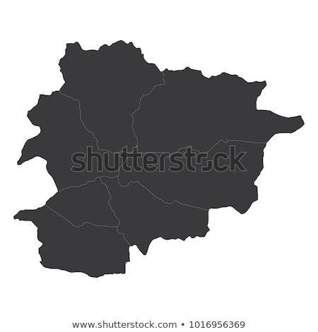 kaart · Andorra · oud · perkament · ontwerp · patroon · tekening - stockfoto © blaskorizov