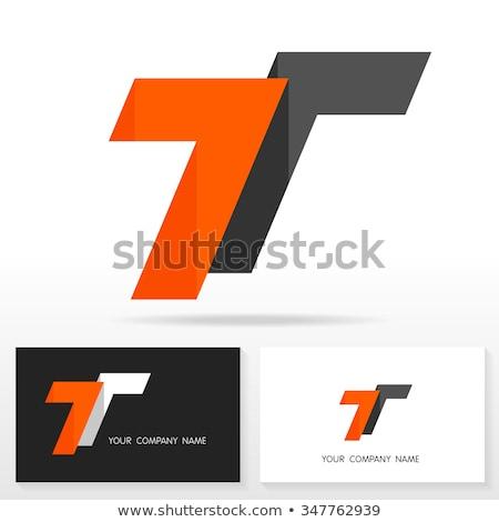 Vektor ikon t betű felirat logo számítógép Stock fotó © blaskorizov