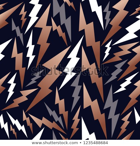 Copper thunder seamless pattern background Stock photo © cienpies
