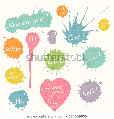 Nosso agitar-se coração projeto amor mensagem Foto stock © SArts