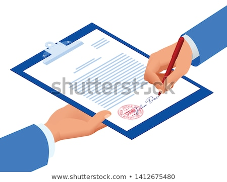 Signed Contract with Text and Signature Vector Stock photo © robuart