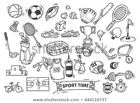 nyomozó · szett · kézzel · rajzolt · művészet · notebook · fekete - stock fotó © vicasso