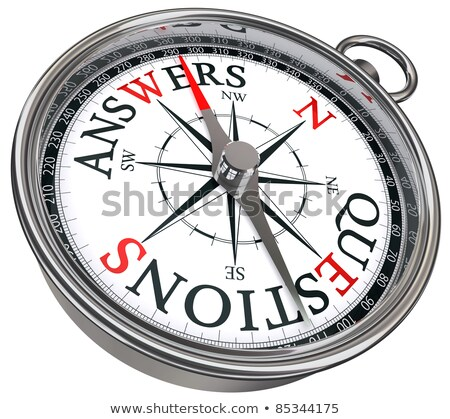 compass on white background answer concept stock photo © make